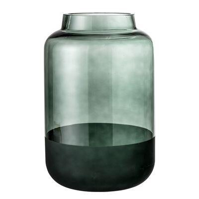 French Bazaar - Two Tone Green Glass Vase