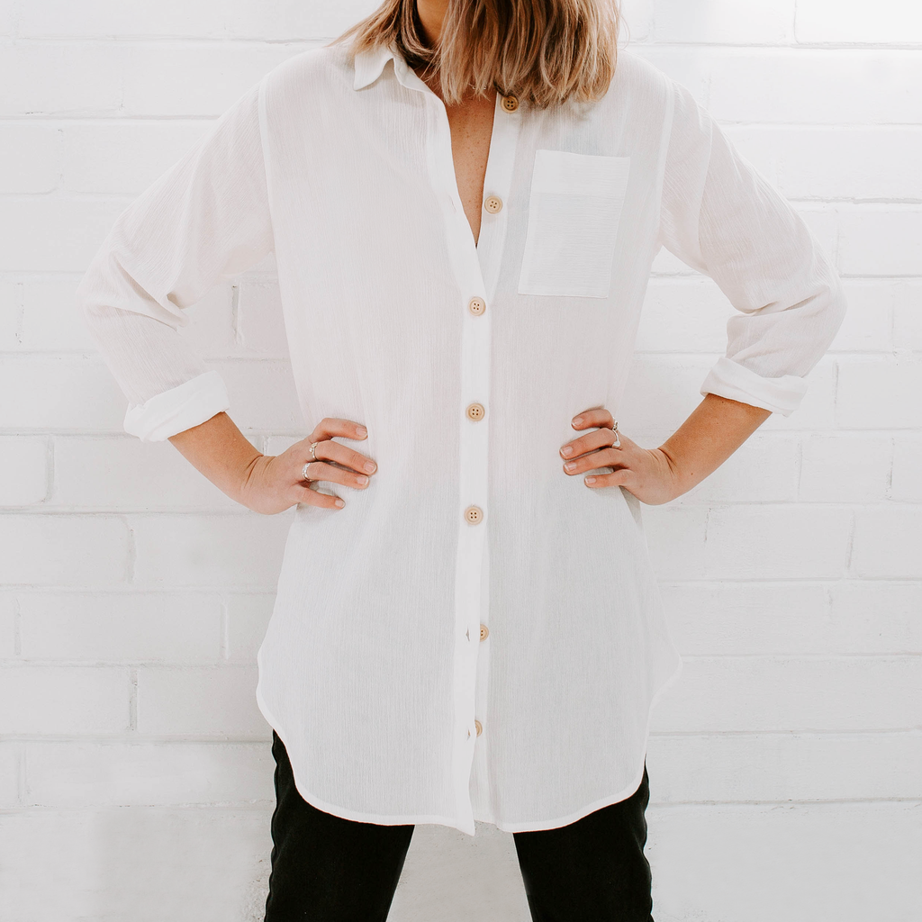 MIANN & CO Phoebe Shirt White