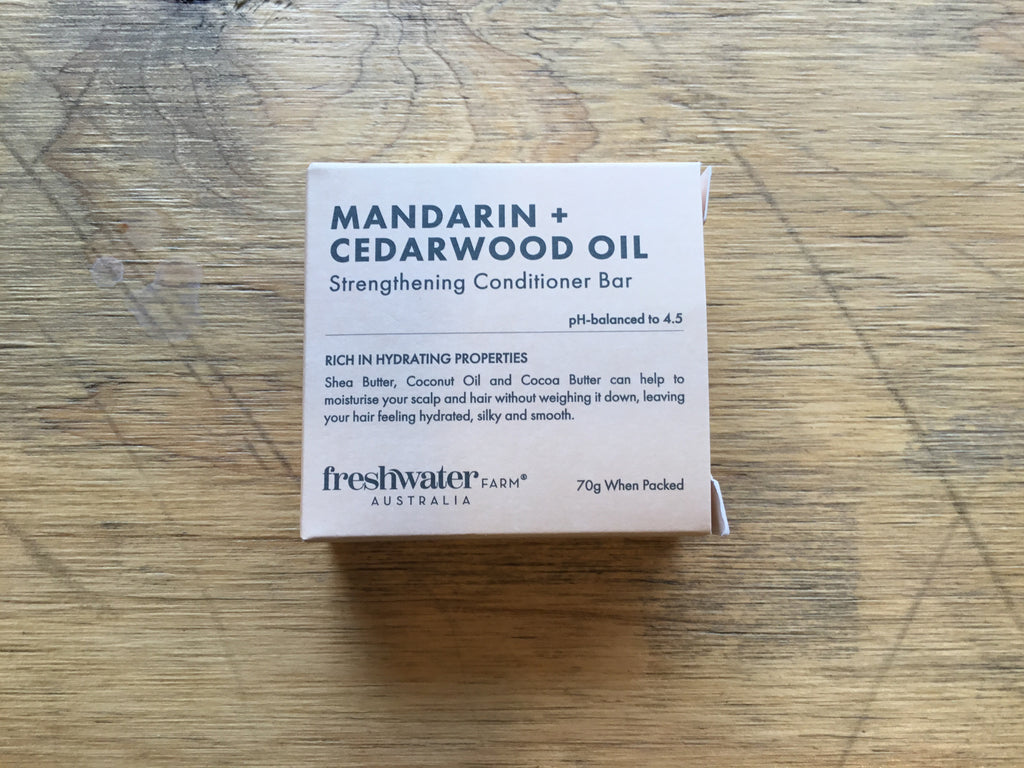 Freshwater Farm - Mandarin + Cedarwood Oil Conditioner Bar