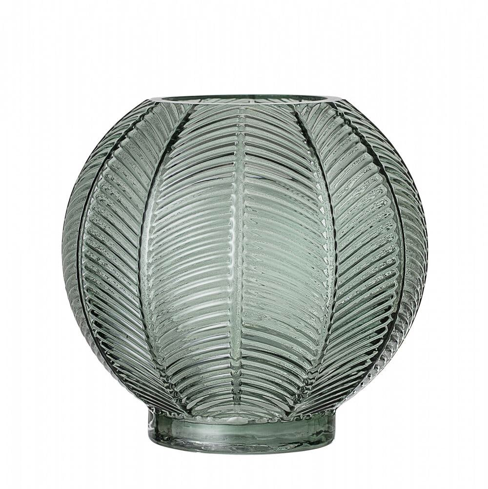 French Bazaar - Round Green Glass Vase