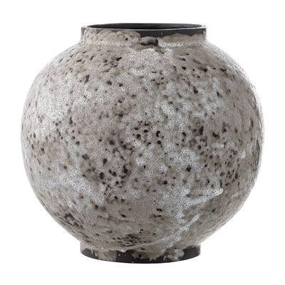 French Bazaar - Stone Grey Round Vase