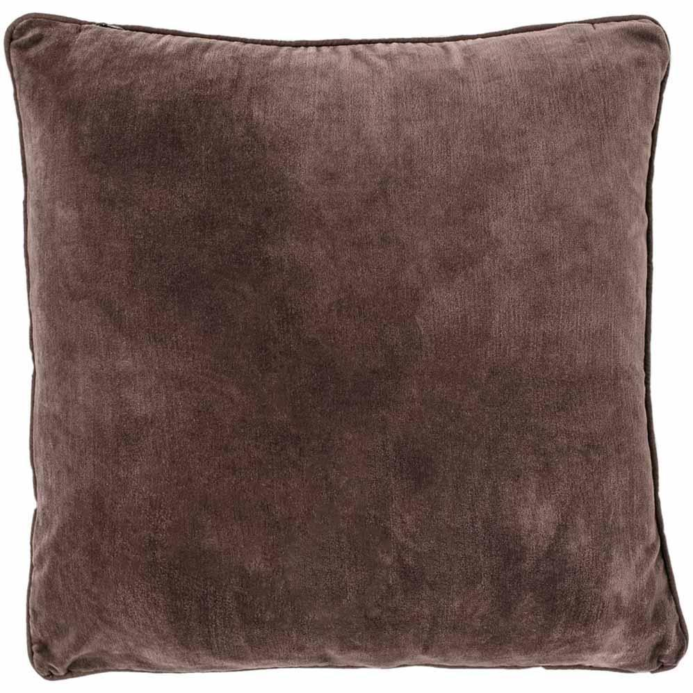 "Velvet ""Lynette"" Square Cushion - Preonze"