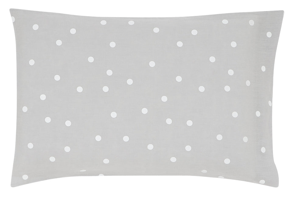 Castle - Grey Linen White Spot Linen Pillowcase
