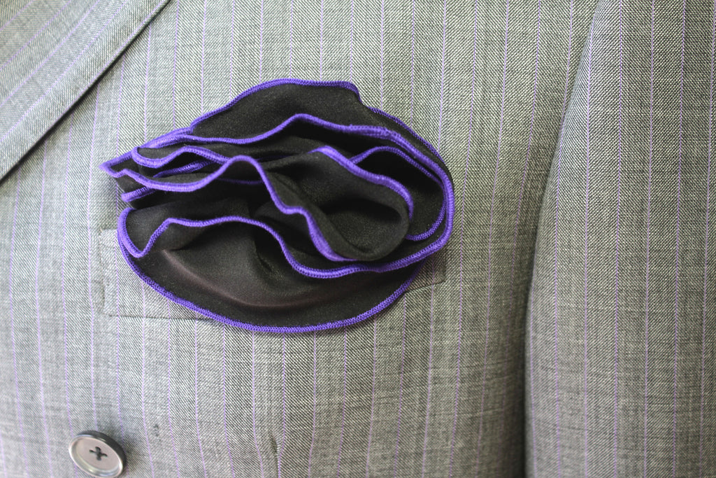 Black & Purple Pocket Round