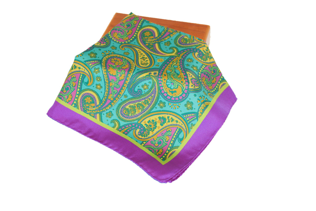 Purple Green Paisley