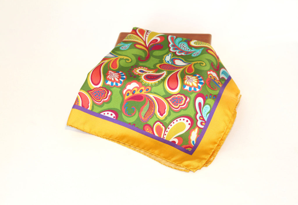 Yellow Multi-Color Paisley