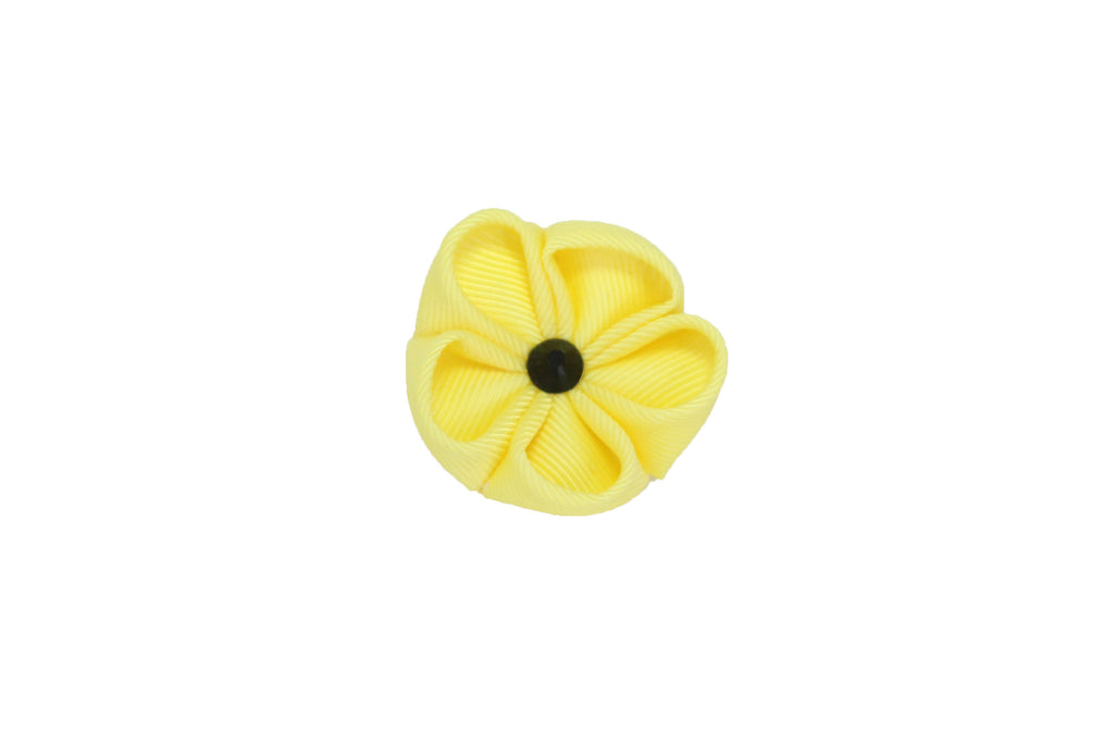 Yellow with Onyx Lapel Push Pin
