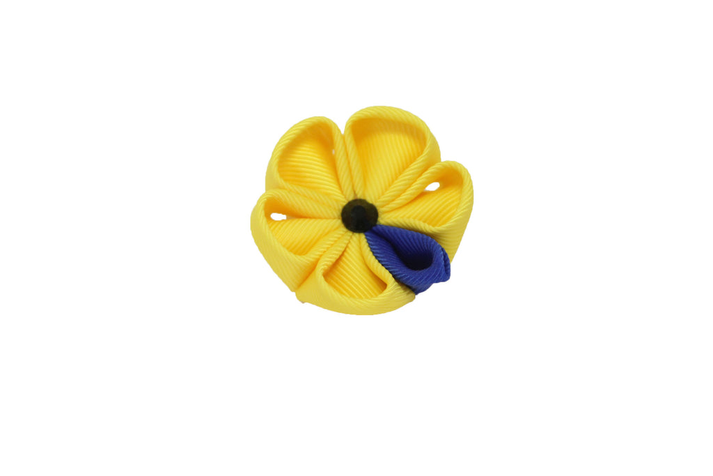 Yellow and Royal Blue Lapel Push Pin