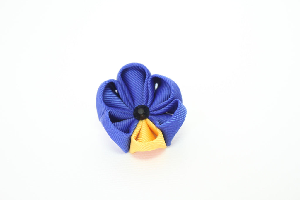 Royal Blue & Yellow with Onyx Lapel Push Pin