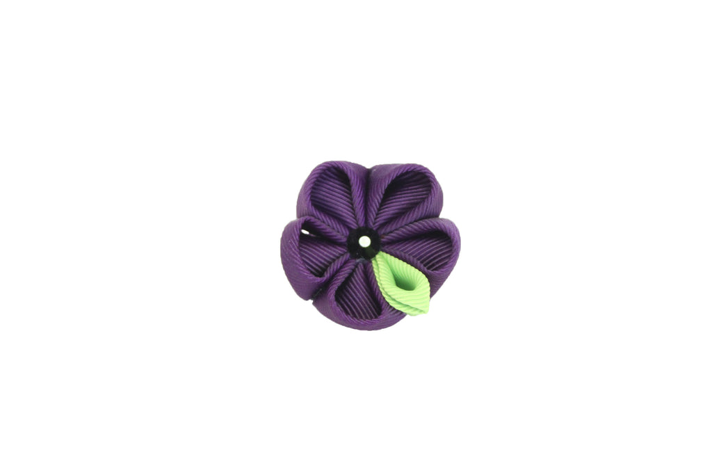 Purple & Green Lapel Push Pin