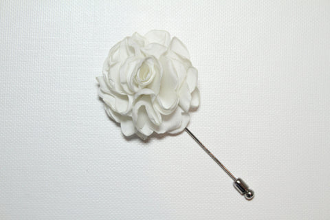 White Lapel Stick Pin