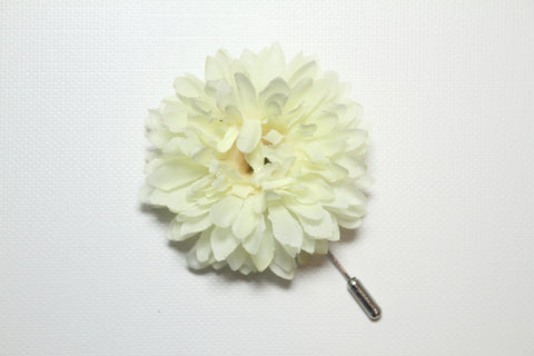 White_Cream Lapel Stick Pin