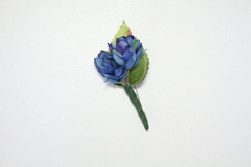 Blue with Foliage Lapel Stick Pin