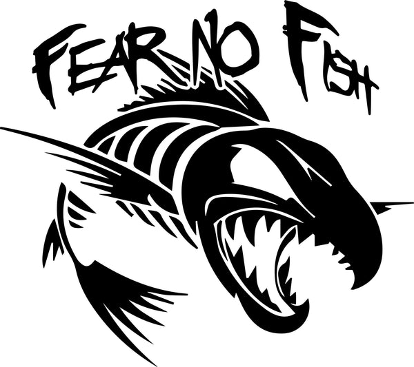 Fear No Fish Vinyl Sticker Redneckunited Com