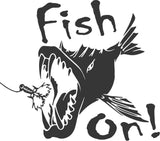 Fish On Vinyl Sticker