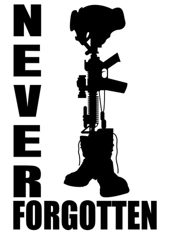 Vinyl Sticker Never Forgotten 2
