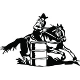 Black Barrel Racing Sticker