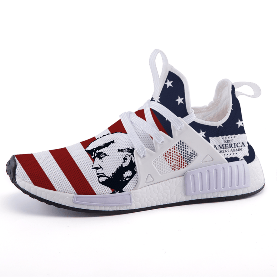 American Flag Patriotic Trump KAGA Nomad Shoes - $ 94.95