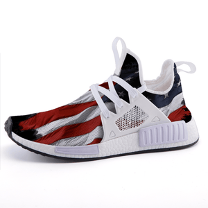 USA Brushed Patriotic American Flag Nomad Shoes