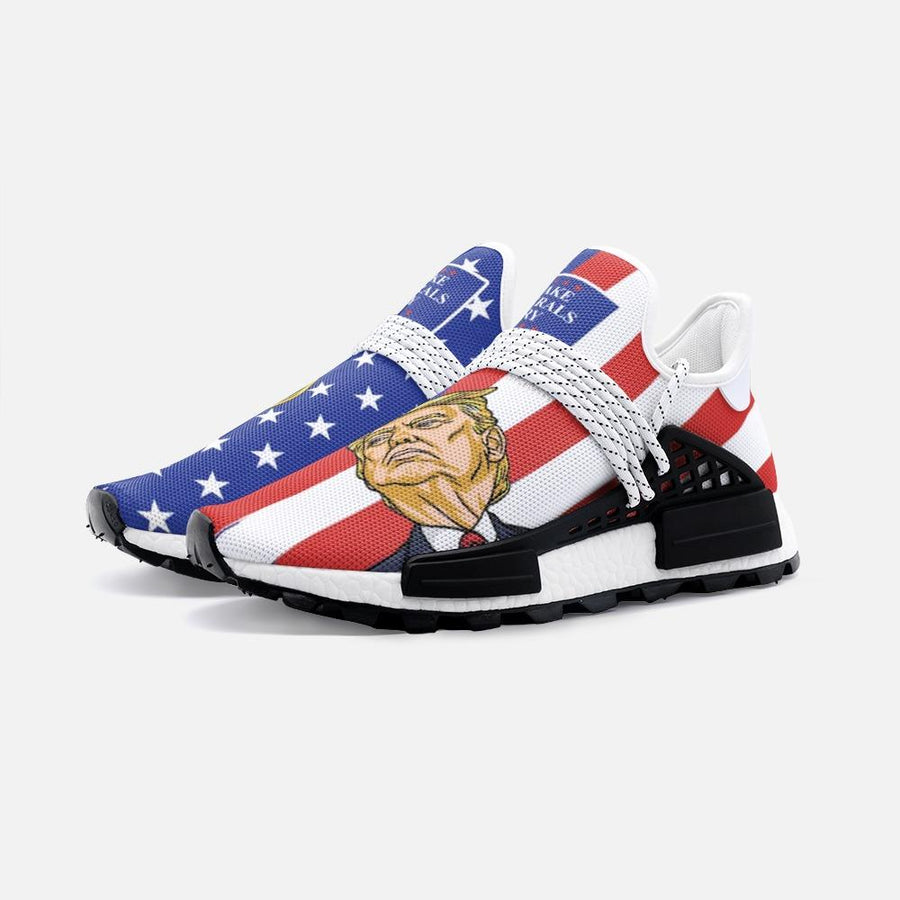 Trump Face Flag Make Liberals Cry 2k Nomad Shoes