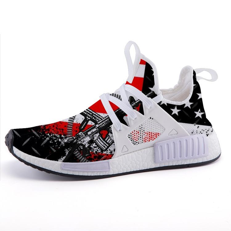 The 2nd Amendment American Flag Patriotic Military Nomad Shoes