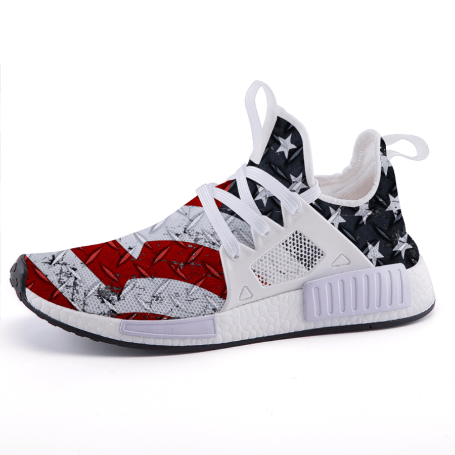 Military Veteran Edition USA Steel American Flag Patriotic Nomad Shoes - $ 89.00