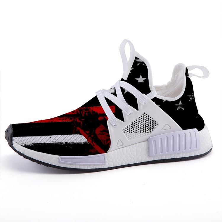 Thin Red Line Stars & Stripes Patriotic Nomad Shoes - $ 89.00