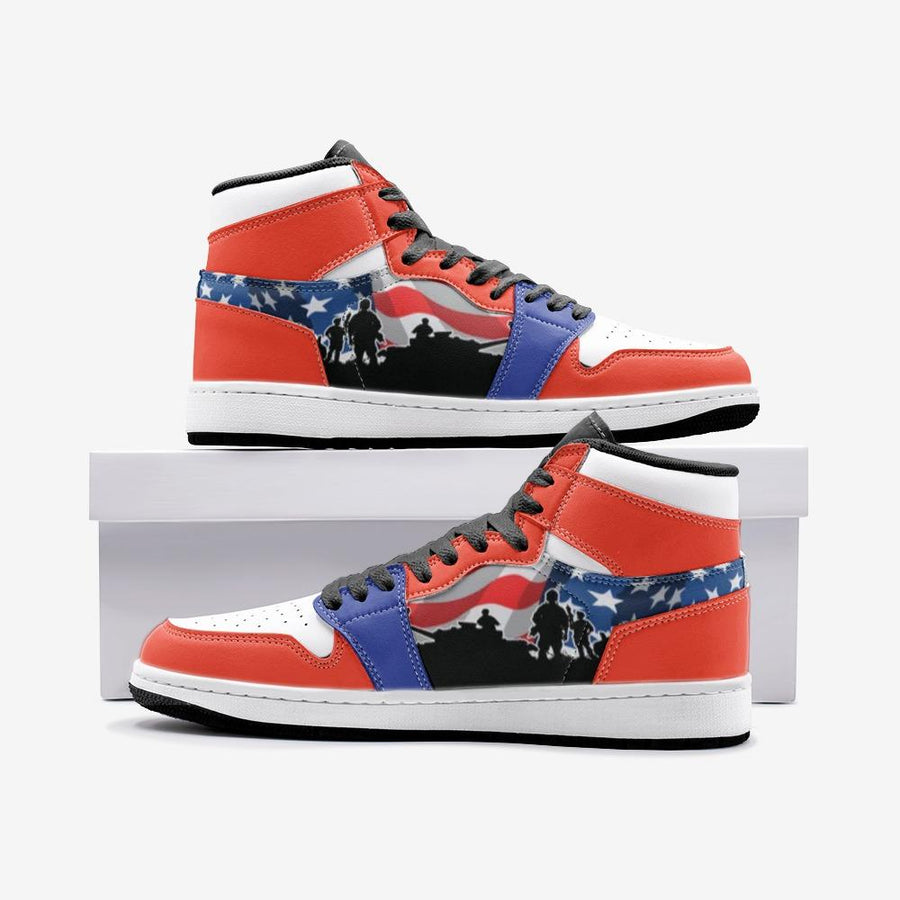 American Flag Military Patriotic Veteran Space Force 1 Shoes