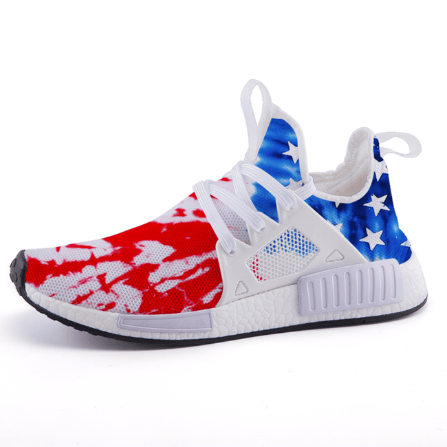 Tie Dye Freedom Patriotic Flag Nomad Shoes