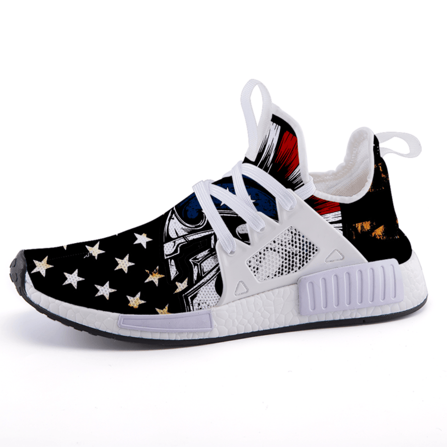 US Flag Stars Patriotic Edition Military Veteran Nomad Shoes - $ 89.00