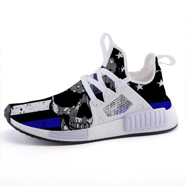 Thin Blue Line Skull Nomad Shoes