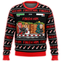 Trump Finish Him Premium Ugly Christmas Sweater - $ 49.00