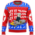 Kim Jong Un Let It Blow Premium Ugly Christmas Sweater - $ 49.00