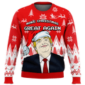 Make Christmas Great Again Premium Ugly Christmas Sweater