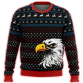 Patriotic Eagle Premium Ugly Christmas Sweater