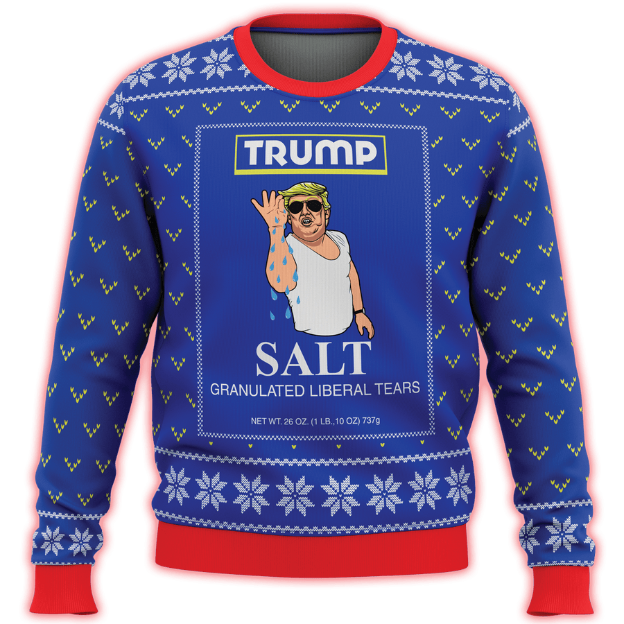 Trump Salt Liberal Tears Premium Ugly Christmas Sweater