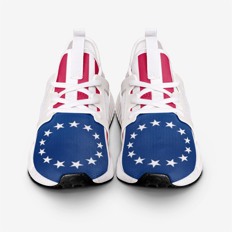 Betsy Ross 13 Stars and Stripes 1776 American Flag Military Nomad Shoes - $ 89.00