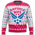 Air Force Wife Premium Ugly Christmas Sweater
