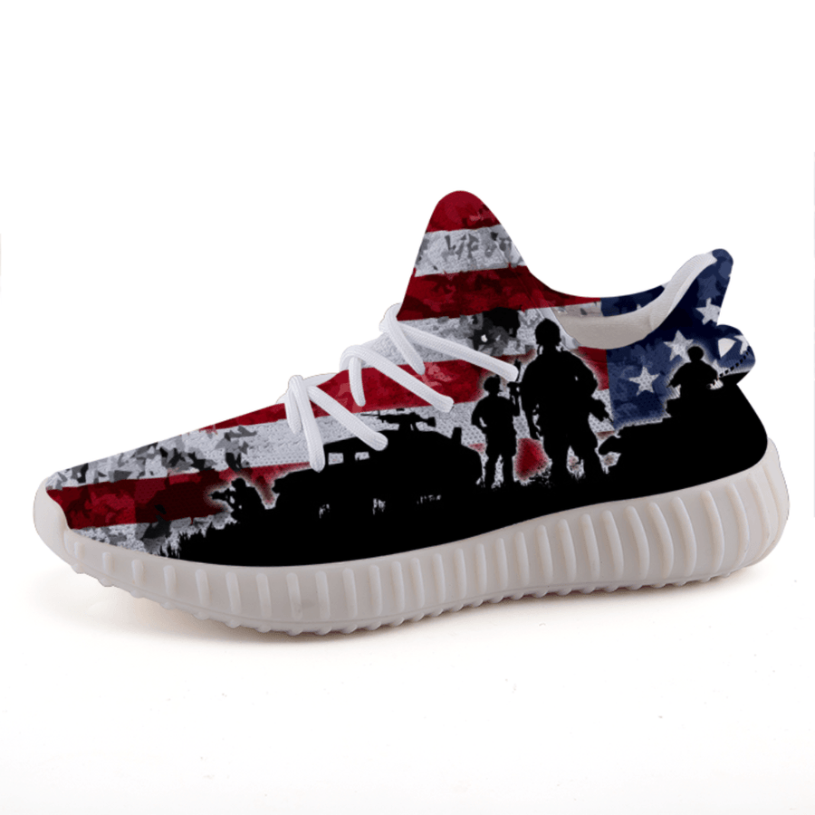 American Flag Military Veteran Patriotic A3 Boost Shoes