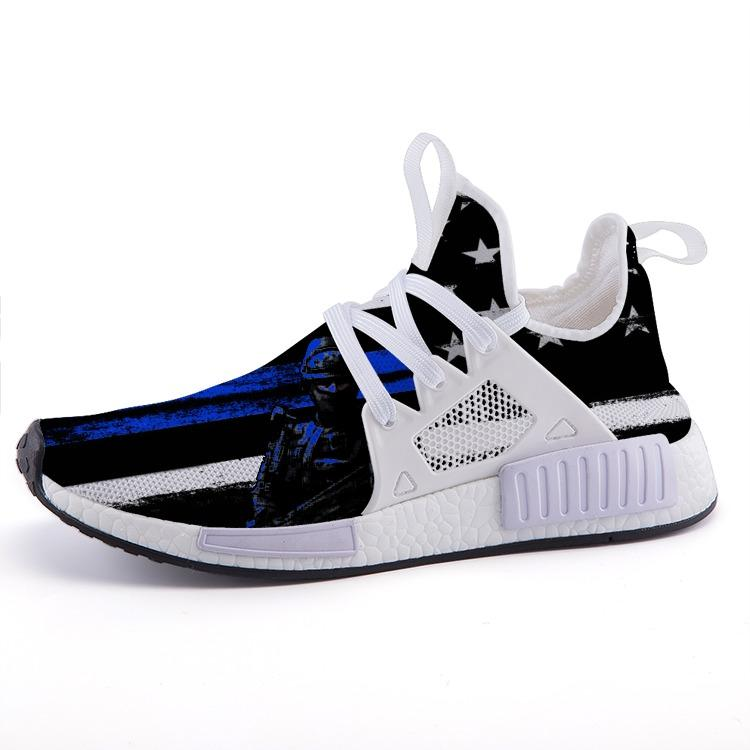 Thin Blue Line Swat Inspired Veteran Patriotic Nomad Shoes