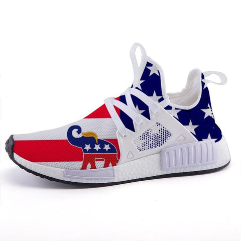TRUMP ELEPHANT SYMBOL US FLAG SPORT SNEAKERS - $ 79.95