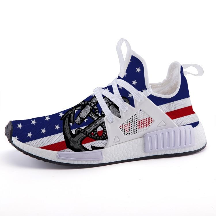 Military Coast Guard Veteran Flag Patriotic Nomad Shoes