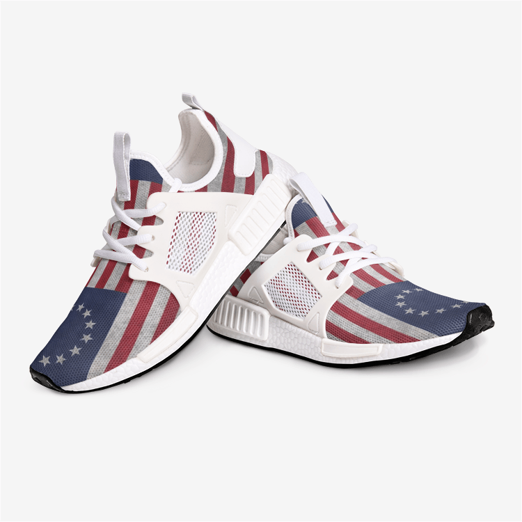 Betsy Ross Distressed Stars Stripes 1776 American Flag Veteran Nomad Military Shoes - $ 79.00