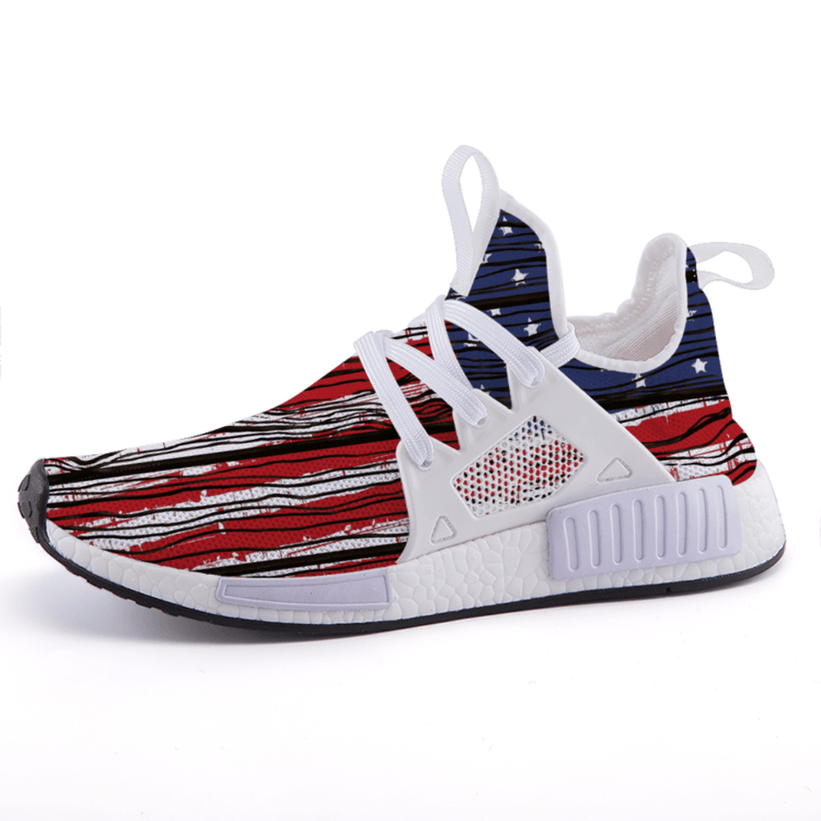 US Patriotic Wooden American Flag Nomad Shoes - $ 89.00