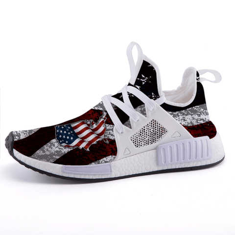 USA Flag Patriotic Distressed Flag Sports Sneakers - $ 79.95