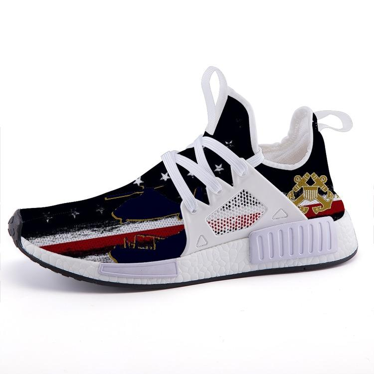 Armed Forces Coast Guard Patriotic Flag Veteran Nomad Shoes