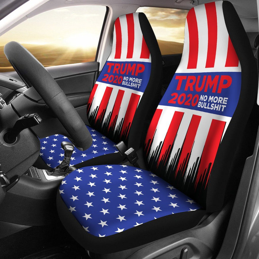 Trump 2020 No More Bullshit Car Seat Covers
