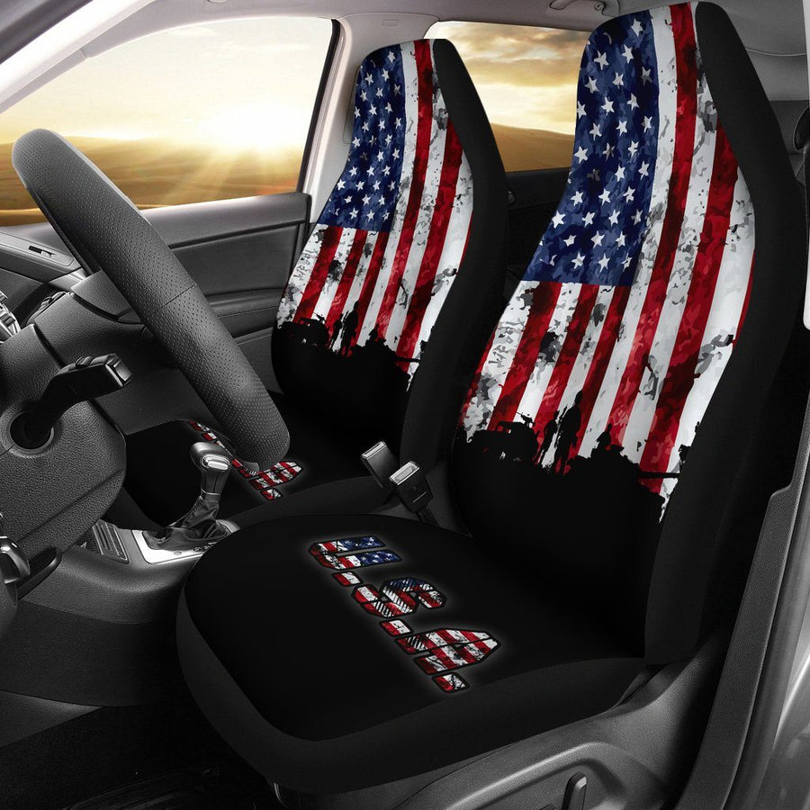 American Flag Military Patriotic Veteran Car Seats Cover - $ 74.95