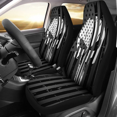USA B&W PUNISHER INSPIRED Car Seat Covers - $ 79.95