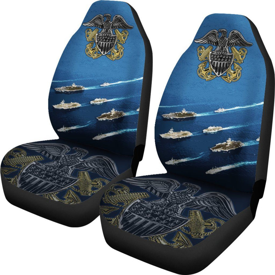Military Navy Glove Car Seat Covers Set Of 2